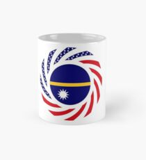 Nauru American Multinational Patriot Flag Series Mug