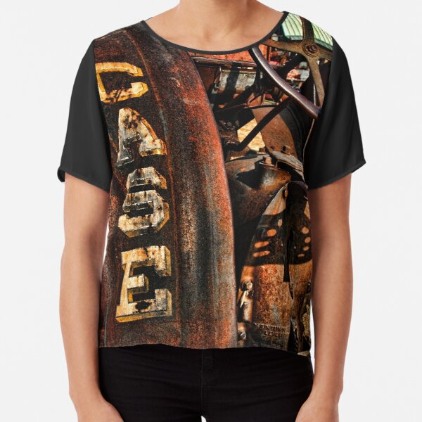 Case Antiquated Tractor Chiffon Top