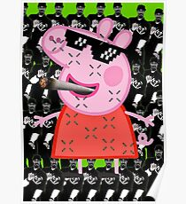 MLG Peppa Pig/Snoopy Dogg Poster
