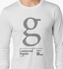The Letter G Garamond Type Long Sleeve T-Shirt