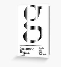The Letter G Garamond Type Greeting Card