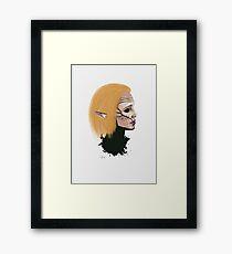 Clever June Framed Print