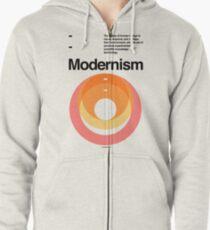 Modernism Zipped Hoodie