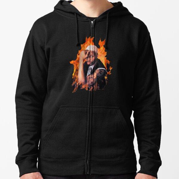 Dennis Rodman Fan Art & Merch Zipped Hoodie
