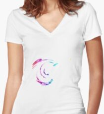 Rainbow swirls 2 - Abstract Women's Fitted V-Neck T-Shirt