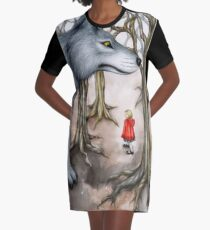 Not Out of the Woods Graphic T-Shirt Dress