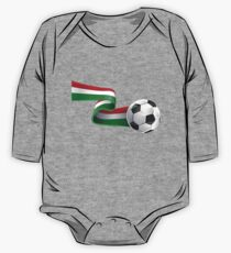 Abstract 3d Italy flag football ribbon tails One Piece - Long Sleeve