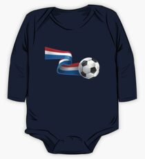 Abstract 3d France flag football ribbon tails One Piece - Long Sleeve