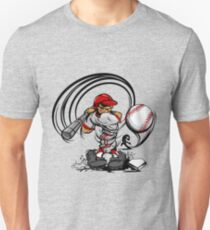 Funny cartoon baseball player Unisex T-Shirt