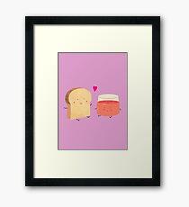 Bread loves jam Framed Print
