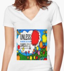 Unless The Lorax Women's Fitted V-Neck T-Shirt