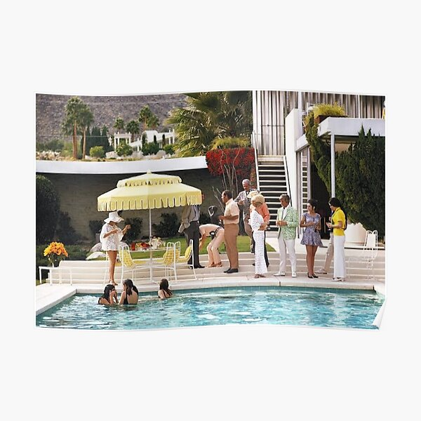 When People Party old in Poolside Poster