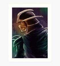 Shredder Foot Clan Grandmaster Art Print