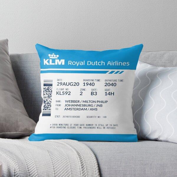 Boarding Pass 5748x5748 MPW Throw Pillow