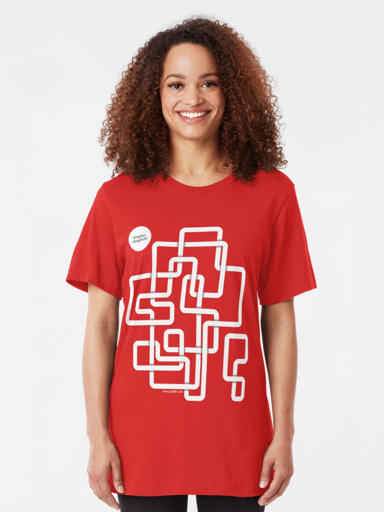 Alternate view of Graphic Spaghetti /// Slim Fit T-Shirt