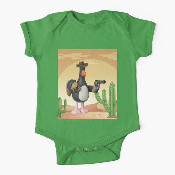 Wallace and Gromit Penguin Short Sleeve Baby One-Piece
