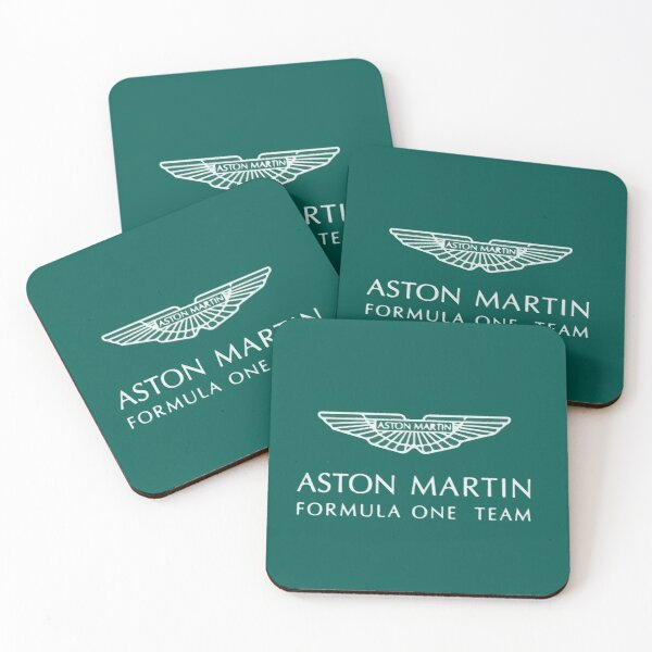 Aston Martin F1 Artistic Logo Coasters (Set of 4)