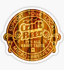 Craft Beer Emblem, wood Sticker