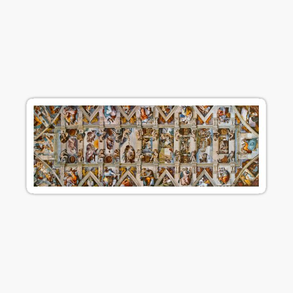 Ceiling of the sistine chapel in the Vatican, Rome, Italy Sticker