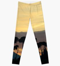 Sunset from Pineta, Lago Trasimeno Leggings