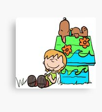 SNOOPY-DOO - SHAGGY BROWN Canvas Print