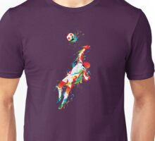 Colorful splash soccer goal keeper Unisex T-Shirt