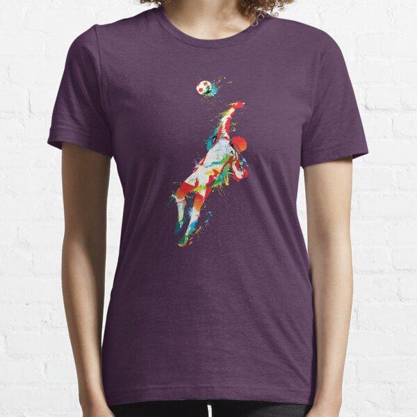 Colorful splash soccer goal keeper Essential T-Shirt
