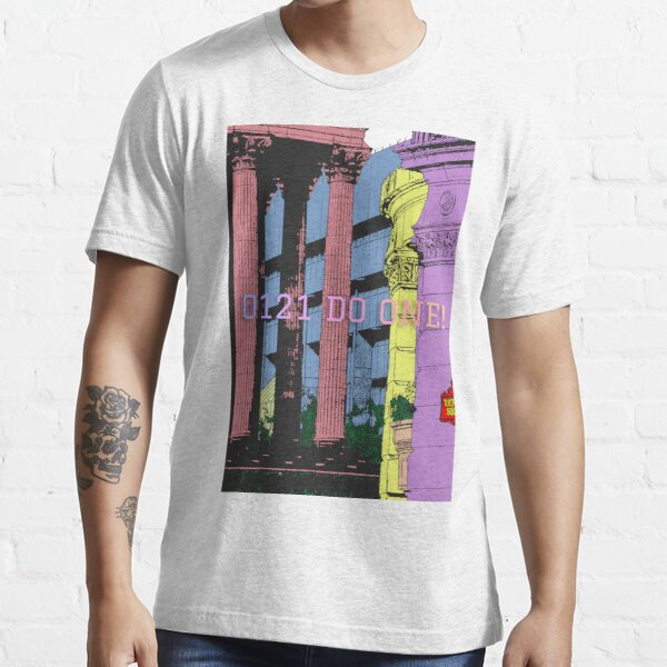 View of Victoria square Birmingham UK in colour with 0121 Do One Essential T-Shirt
