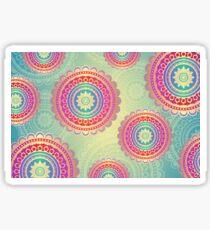 Colorful Geometric Mandala Pattern Sticker