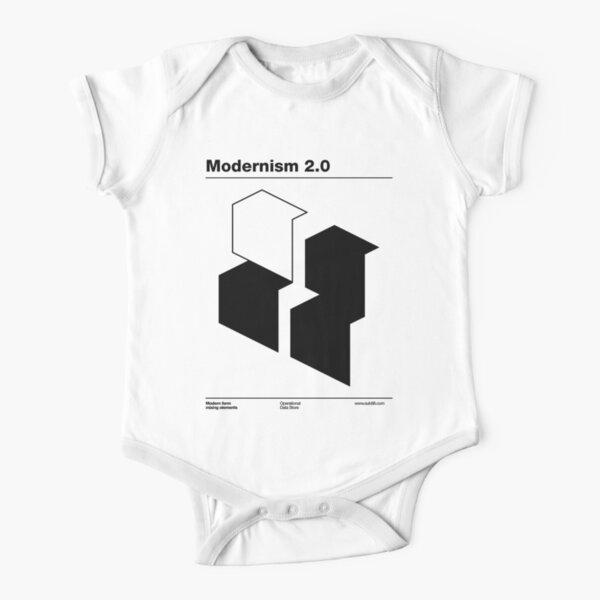 Modernism 2.0 (b) Short Sleeve Baby One-Piece
