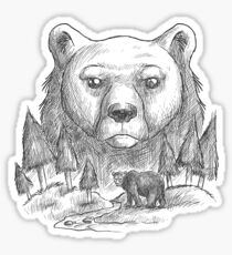 Bear and forest Sticker