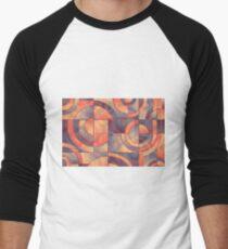 Colorful Abstract Geometric Pattern Men's Baseball ¾ T-Shirt