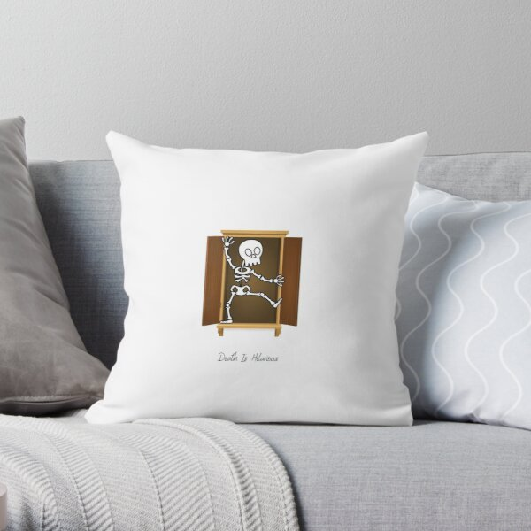 Skeleton's (Not) In The Closet Throw Pillow