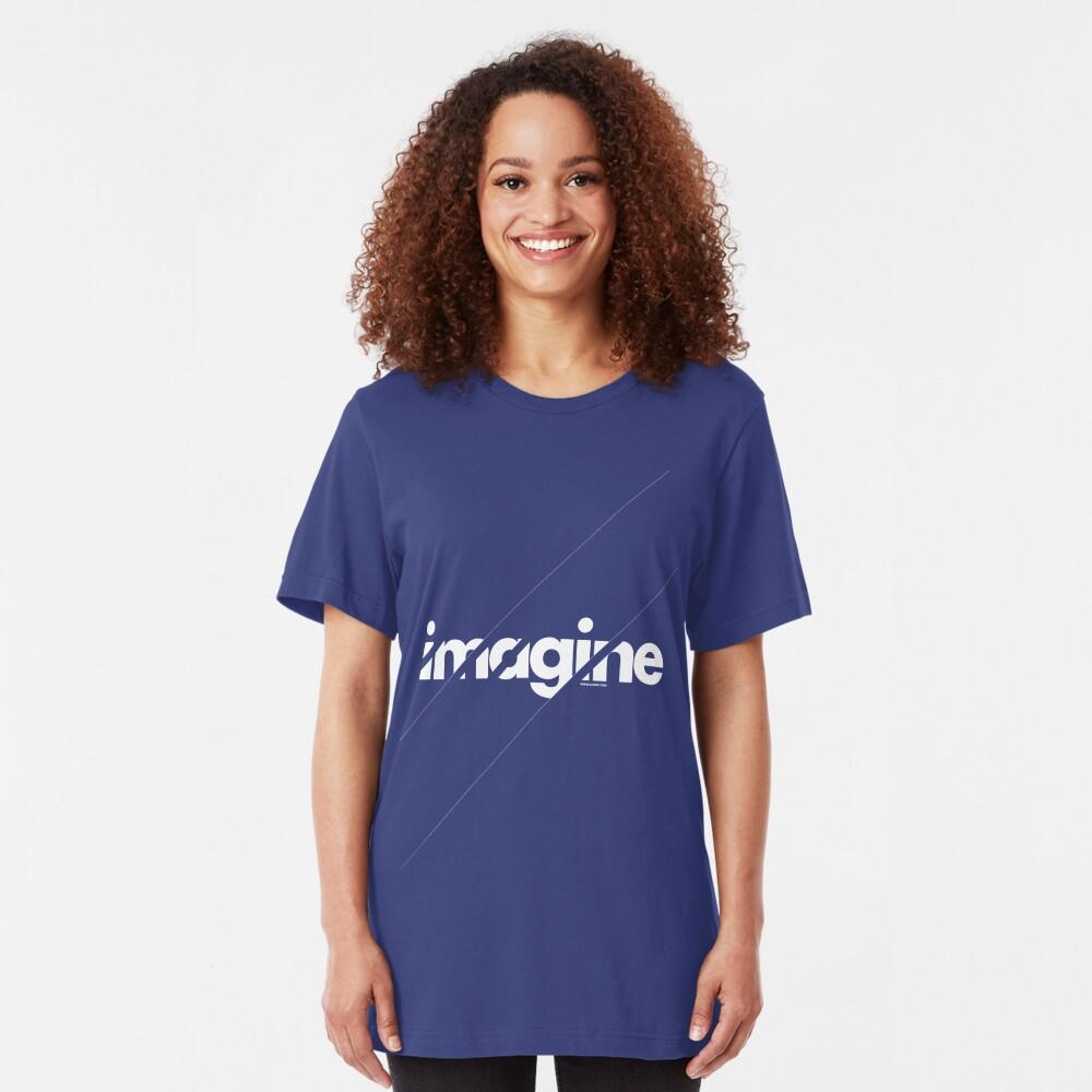 Imagine under stripes /// white version Slim Fit T-Shirt