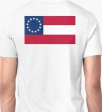 Stars & Bars, USA, America, First American National Flag, 13 stars, 1861 Unisex T-Shirt