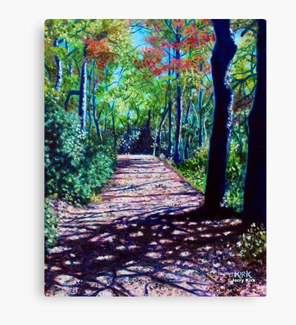 'Shadows on the Trail (Blowing Rock)' Canvas Print