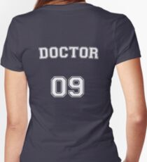 Doctor # 09 Women's Fitted V-Neck T-Shirt