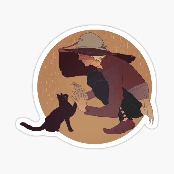 Cole & The Cat Sticker