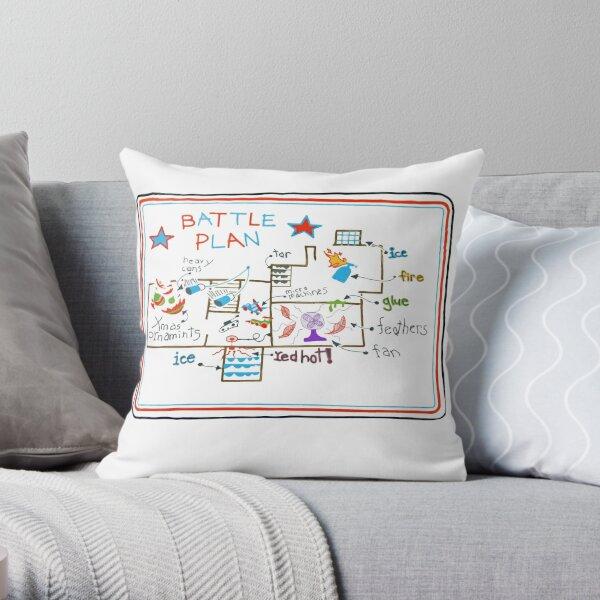 home alone battle plan Throw Pillow