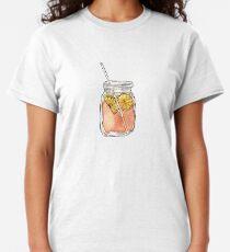 Mason Jar Summer Sun Ice Tea in Watercolor Classic T-Shirt