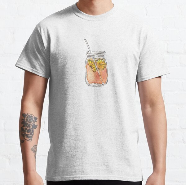 Mason Jar Summer Sun Ice Tea in Watercolor Classic T-Shirt