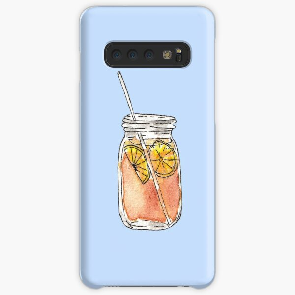 Mason Jar Summer Sun Ice Tea in Watercolor Samsung Galaxy Snap Case