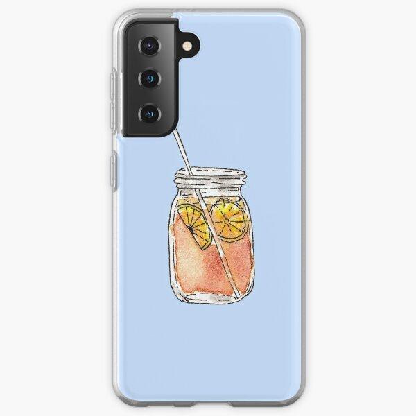 Mason Jar Summer Sun Ice Tea in Watercolor Samsung Galaxy Soft Case