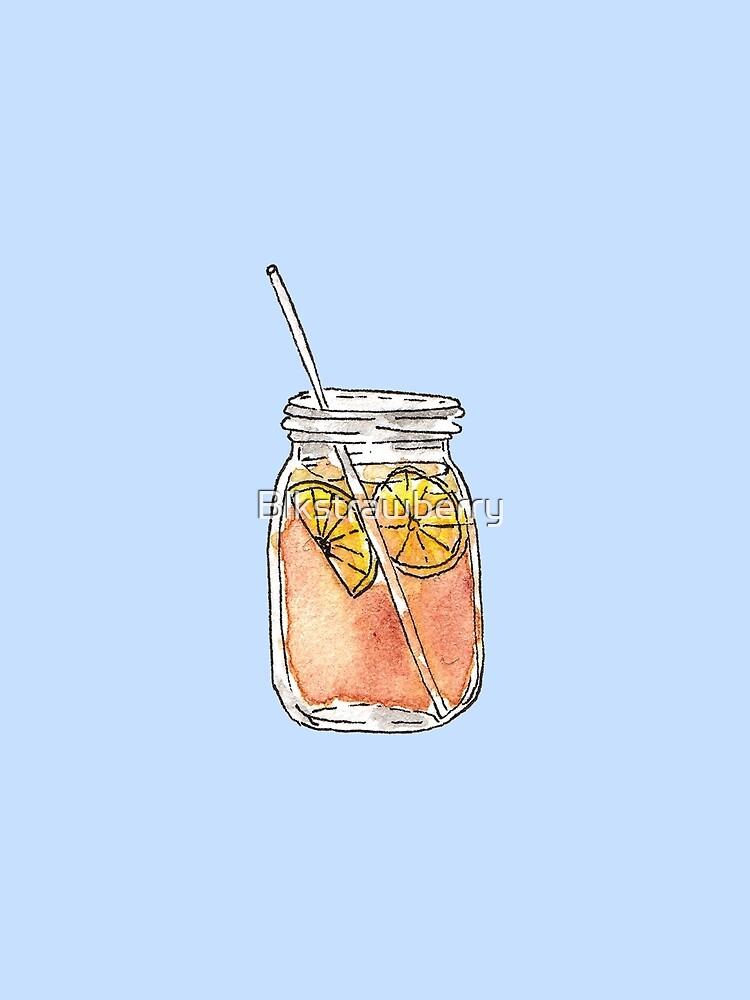 Mason Jar Summer Sun Ice Tea en acuarela de Blkstrawberry
