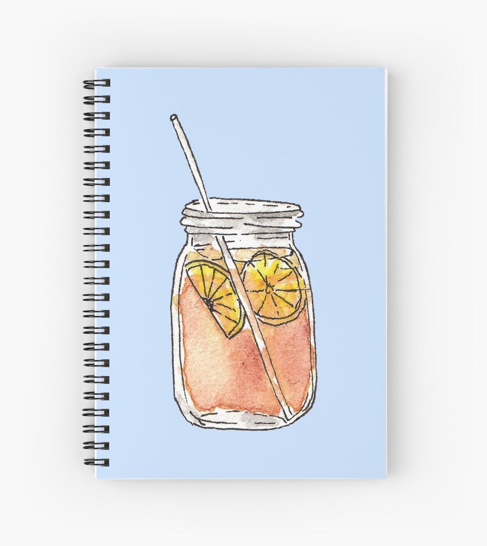 Einmachglas-Sommer Sun Ice Tea im Aquarell von Blkstrawberry