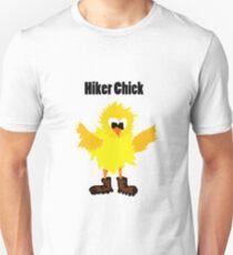 Cool Funny Hiker Chick Cartoon Unisex T-Shirt