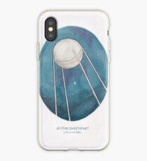 Haruki Murakami's Sputnik Sweetheart // Illustration of the Sputnik Satellite in Space in Pencil & Watercolour iPhone Case