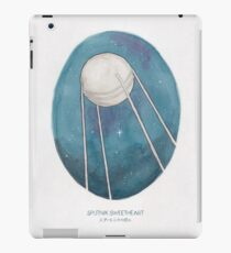 Haruki Murakami's Sputnik Sweetheart // Illustration of the Sputnik Satellite in Space in Pencil & Watercolour iPad Case/Skin