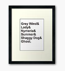 Direwolves Framed Print
