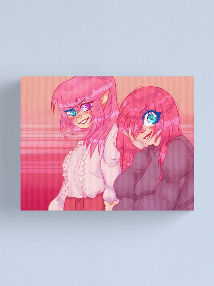Alternate view of Anarchy BFFs (Nihachu & Technoblade) [Dream SMP] Canvas Print
